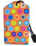 Luggage Tag:Fun-Dots-Orange