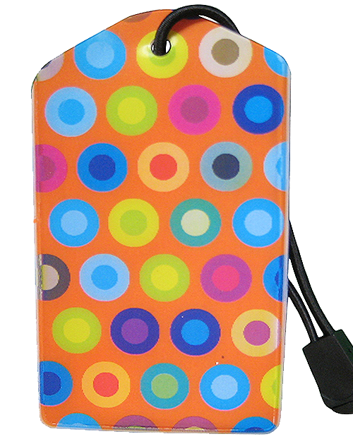 z Luggage Tag: Fun Dots Orange - En Route Travelware