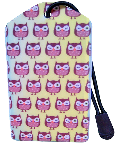 Luggage Tag:Owls