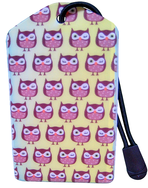 z Luggage Tag: Winking Owls - En Route Travelware