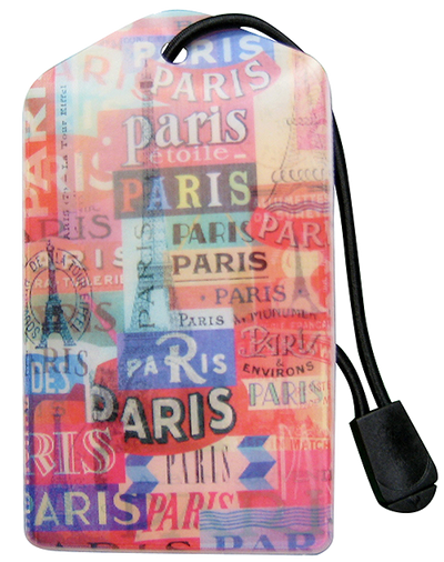 z Luggage Tag: Paris - En Route Travelware