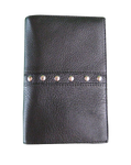 RFID Wallet Passport Cover Black Leather with ID theft protection built in.