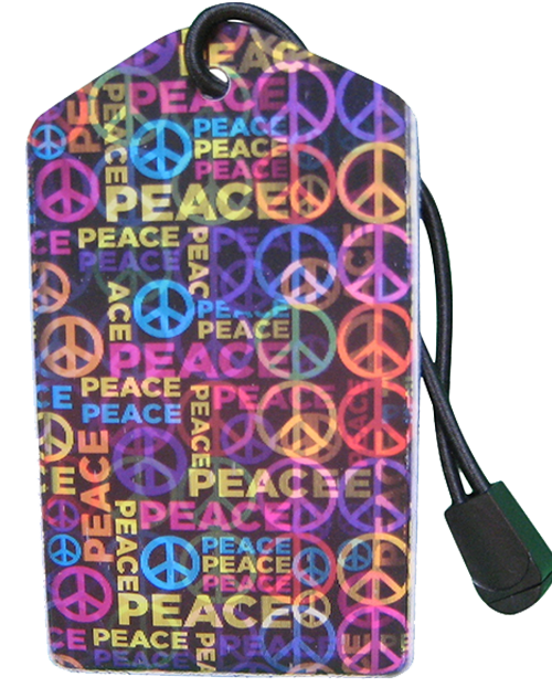 z Luggage Tag: Peace - En Route Travelware