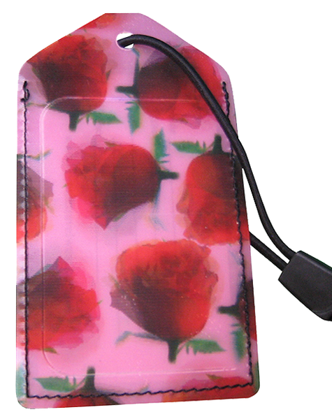 Luggage Tag:Roses-Pink