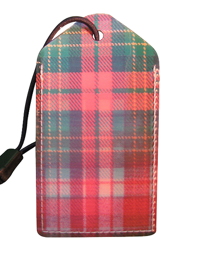 Luggage Tag:Scotch-Plaid