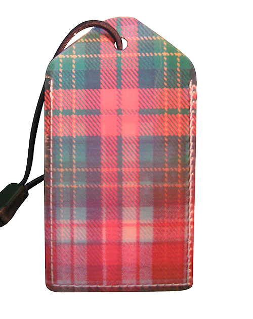 z Luggage Tag: Scotch-Plaid - En Route Travelware