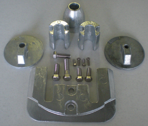 Mercruiser Bravo III Zinc Anode Kit 2004 & Greater Military Grade Zinc