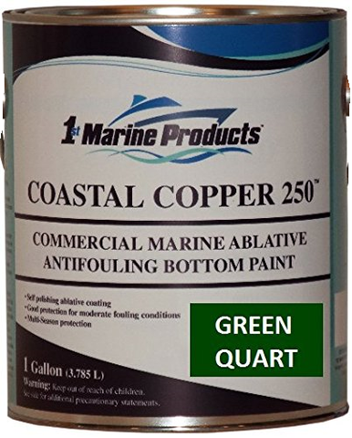 Coastal Copper 250 Ablative Antifouling Bottom Paint GREEN QUART