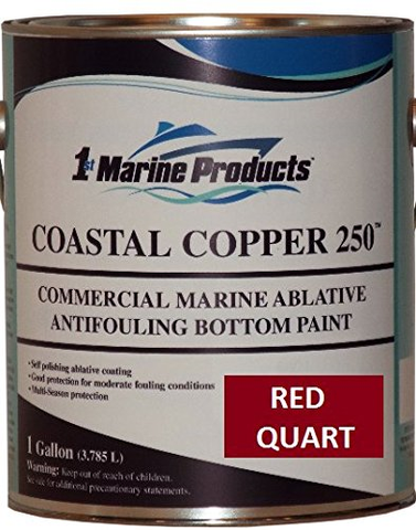 Coastal Copper 250 Ablative Antifouling Bottom Paint RED QUART