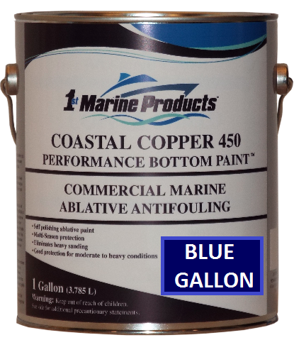 Coastal Copper 450 Multi-Season Ablative Antifouling Bottom Paint BLUE GALLON