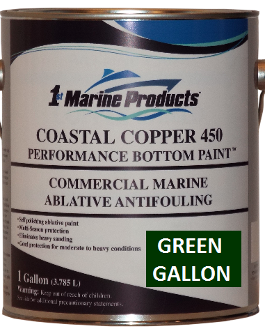 Coastal Copper 450 Multi-Season Ablative Antifouling Bottom Paint GREEN GALLON