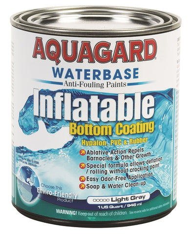 Aquaguard Inflatable Boat Antifouling Bottom Paint GRAY QUART