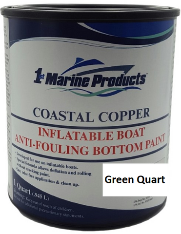 Coastal Copper Inflatable Boat Bottom Paint GREEN QUART