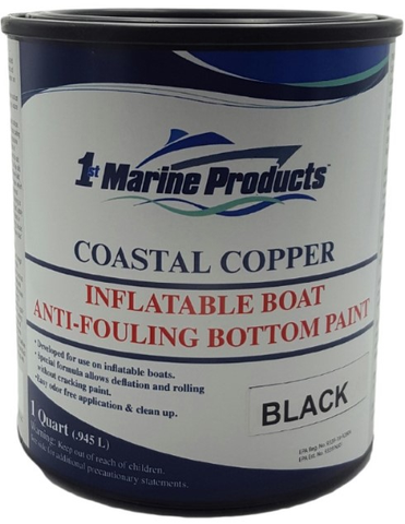 Coastal Copper Inflatable Boat Bottom Paint BLACK QUART