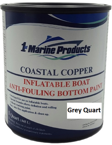 Coastal Copper Inflatable Boat Bottom Paint GREY QUART