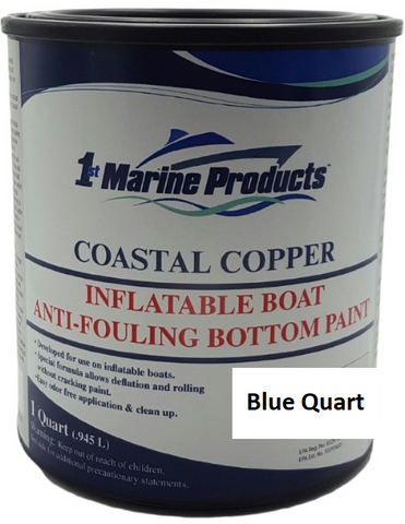Coastal Copper Inflatable Boat Bottom Paint BLUE QUART
