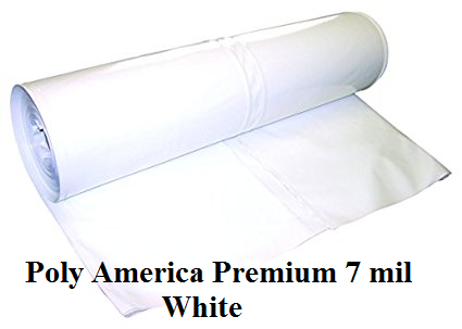 14' X 128' Poly America Premium Shrink Wrap 7 Mil White Shrink Wrap 60 Lbs Roll