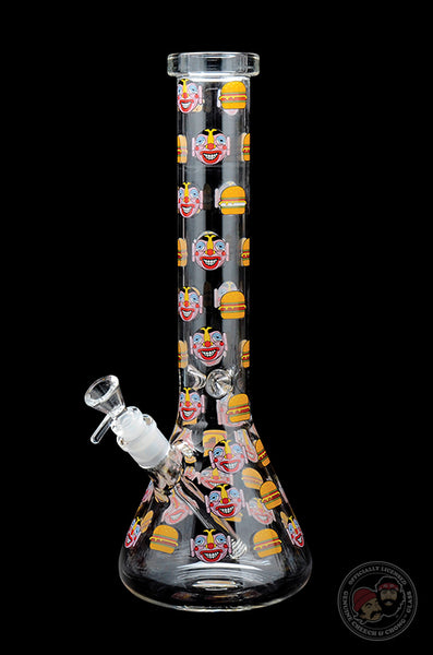 Cheech & Chong™ Glass Hamburger Beaker Tube Water Pipe