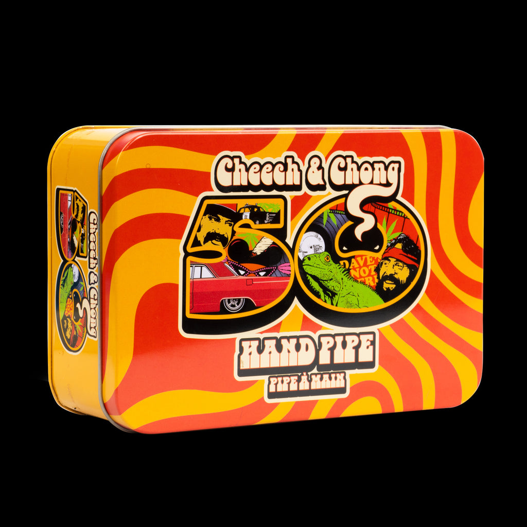 "Cheech & Chong Glass 5"" Commemorative 50th Anniversary Sherlock in a Collectible Tin"