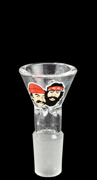 Cheech & Chong™ Glass Clear Heads 19mm Pull-Out