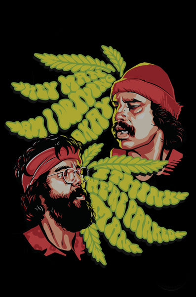 "Cheech & Chong™ Glass 15"" Tall Parked Beaker Tube Water Pipe"