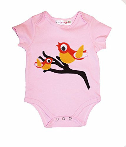 Heather Hill - Baby Girl Bird Onesie