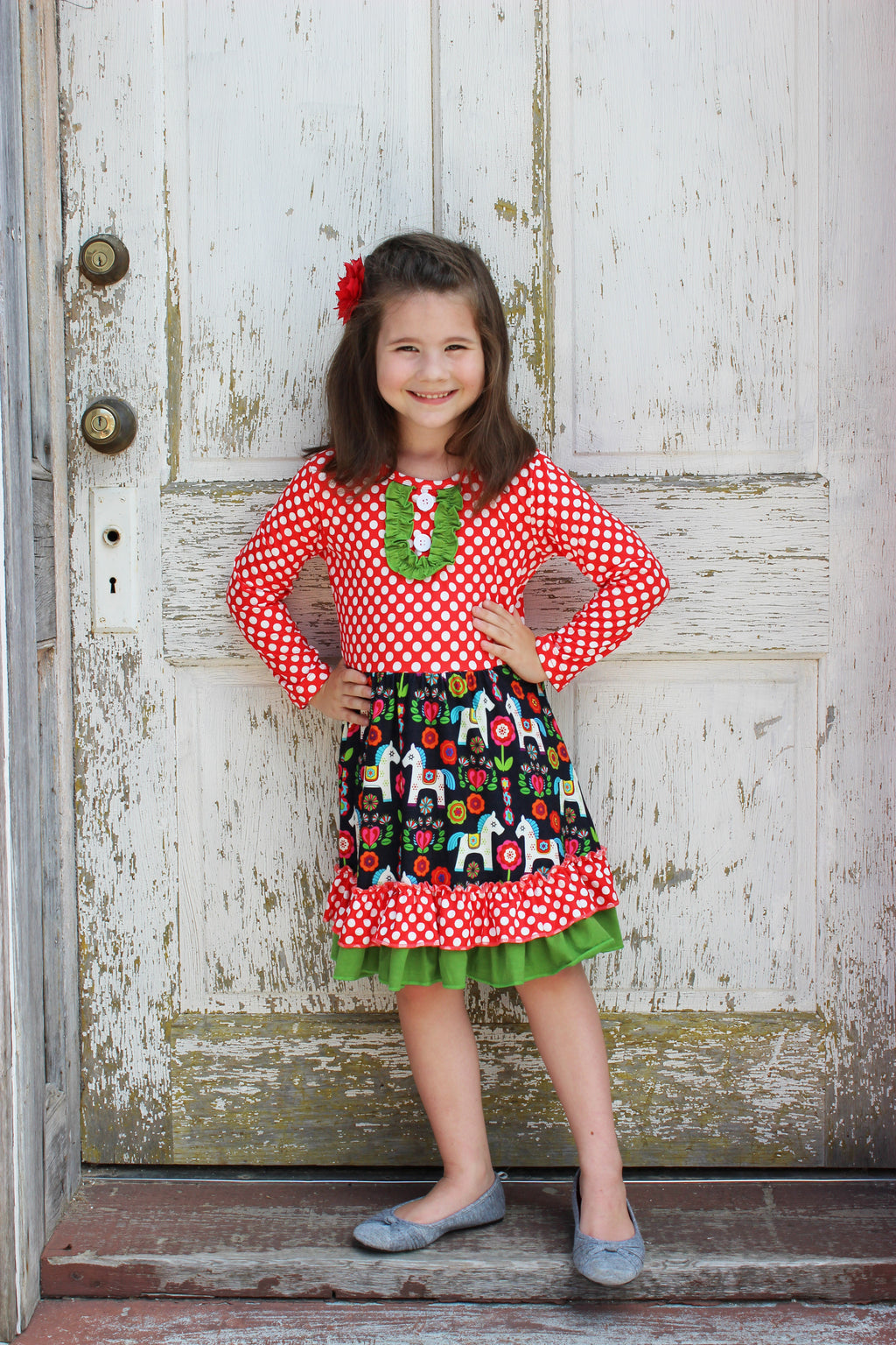 Girls Swedish Horse Dress
