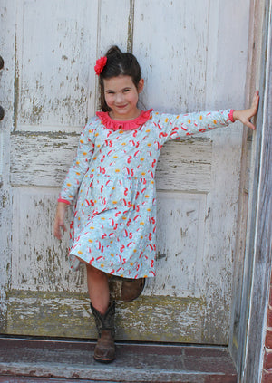 Heather Hill - Girls Dress, Winter Unicorn Dress