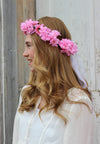 Celebration Pink All Around Flower Headpiece