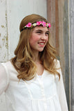 Celebration Small Pink Flower Headpiece