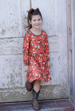 Heather Hill - Girls Dress, Sloth Dress