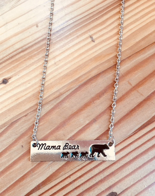 Heather Hill Mama Bear Necklace - Choose 1,2,3,4 or 5 cubs