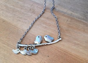 Heather Hill Baby Birds Necklace - Choose 1,2,3,4 or 5 babies
