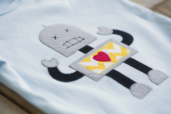 Heather Hill - Baby Boy Robot Onesie