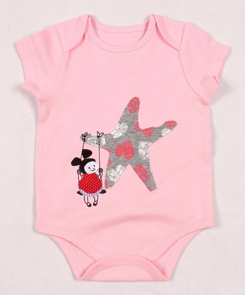 Baby Girl Swinging On a Star Onesie