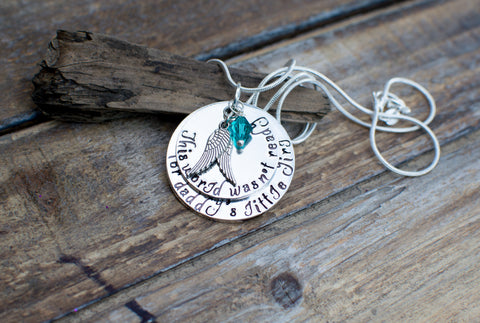 daddy's girl memorial necklace