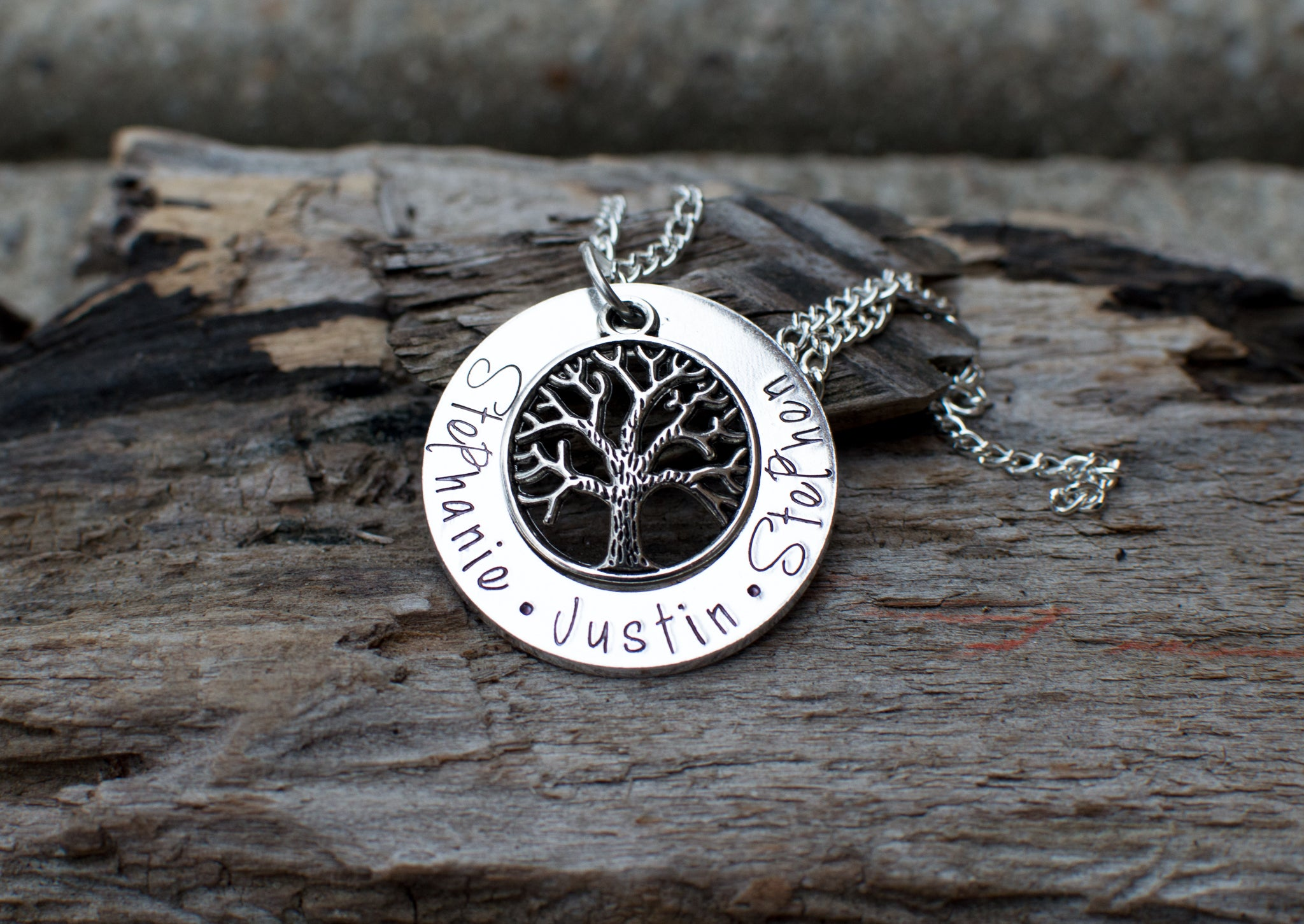 life gold product rose disc with necklace engraved of tree family engraving