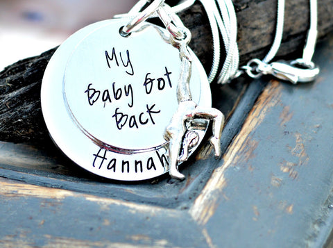 Baby Got Back Gymnast Necklace - Gymnastics Jewelry - Heel Lilies
