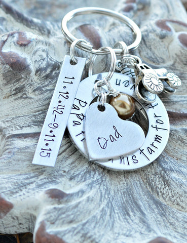 "Farm Memorial - loss of dad papa farmer cow charm tractor charm chicken charm jewelry | Papa Traded His Farm For Heaven ""™86488360 tractor - Heel Lilies  - 1"