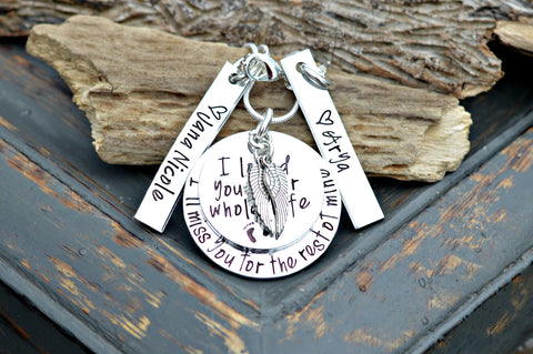 Personalized Memorial Necklace I'll Miss Your Life In Mine In Loving Memory Remembrance Jewelry Loss of multiples Miscarriage - Heel Lilies  - 1