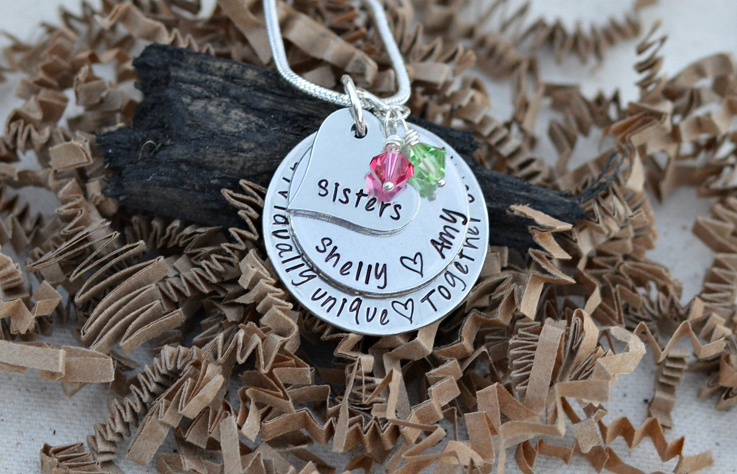 unique sister gift sister necklace sister birthday gift heel