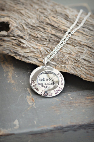 Taken from this world but not my heart® Locket Necklace - Memorial Jewelry - Heel Lilies