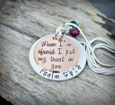 Bible Verse Jewelry Scripture Jewelry - Psalm 56: 3 - Sister Necklace - Best Selling Items - Heel lilies - heellilies - unique gifts for her - Heel Lilies  - 4