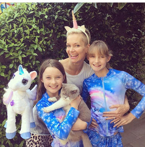 Jessica Rowe and her Unicorn girls