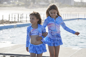 Girls rash top with long sleeves in Unicorn design