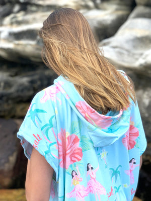 Poncho Swim Cover Up  - One Size