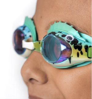 Bling20 Swim Googles Bass Fish  - Green Gills