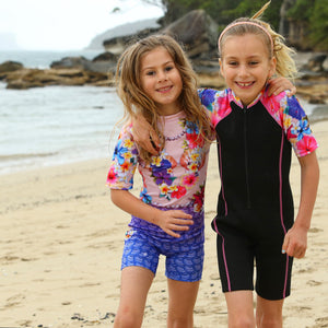 Girls Rash Suit - all in one suit - Mermaid Design