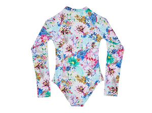Long Sleeve Surf Tank -Glamour print