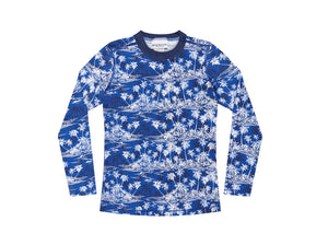 Long Sleeve Rash Top - Hawaiian Palms